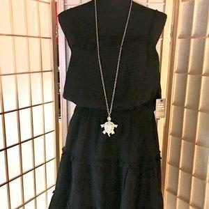 EXPRESS- blk/ spaghetti strap midi dress. Sz M,